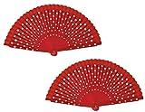 FN4 2 piezas Abanico flamenco español Ventiladores plegables Ventiladores de...