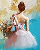 QIAOYUE Pintar por números para Bailarina de Ballet Adulto y niños Kit de...