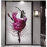 HYFBH Impresiones en Lienzo Elegante Bailarina Bailarina Pintura al óleo...