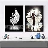 Cuadro en lienzo Arte de pared Modern Girl Ballet Dance Posters Cuadros de pared...