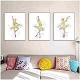 Cuadro en lienzo Arte de la pared Moderno y colorido Ballet Dance Poster Resumen...