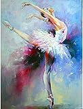Pintar por Numeros Bailarina de ballet artística DIY Cuadro al óleo con...