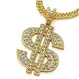 COOLSTEELANDBEYOND Hip Hop Punk Color Oro Grande US Dólar Signo De Dinero...