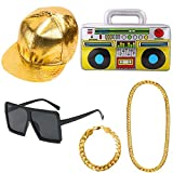 APERIL Hip Hop Costume Kit Mens 90's 80's Rapperfor Accessories Favors Birthday,...