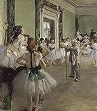 VNKLIN Reproducciones De Lienzo De Pintura Al Óleo Clase De Ballet (1871-1874)...