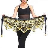 SUPVOX - Pañuelo para danza del vientre, pañuelo para monedas, para mujer,...