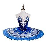 N-A Vestido de ballet para mujer, tutú profesional, bordado, falda de baile de...