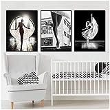 Cuadro en lienzo Arte de la pared Cuadros de pintura Modern Girl Ballet Dance...