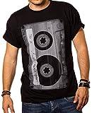 Camiseta Musica Hombre - Caseta - Negro XL