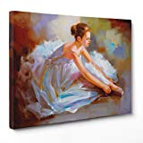 Cuadro sobre lienzo – enmarcado – Listo para colgar – Bailarina – 70 x...
