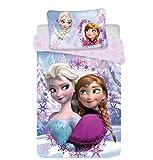 Disney Frozen Anna Elsa - Juego de sábanas para cama individual, compuesto por...