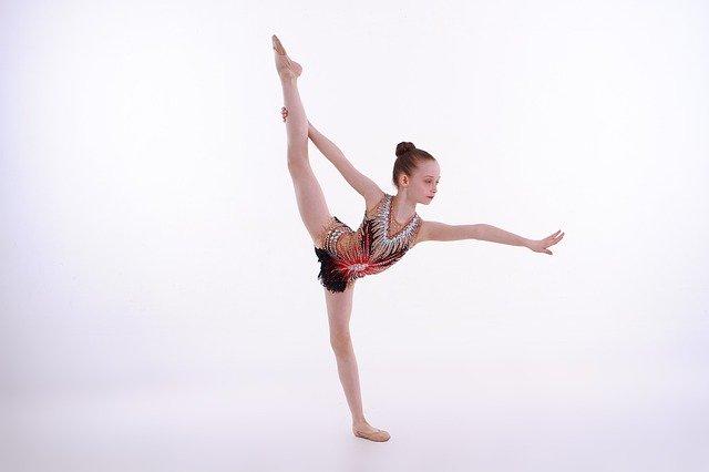 medias puntas gimnasia ritmica niña