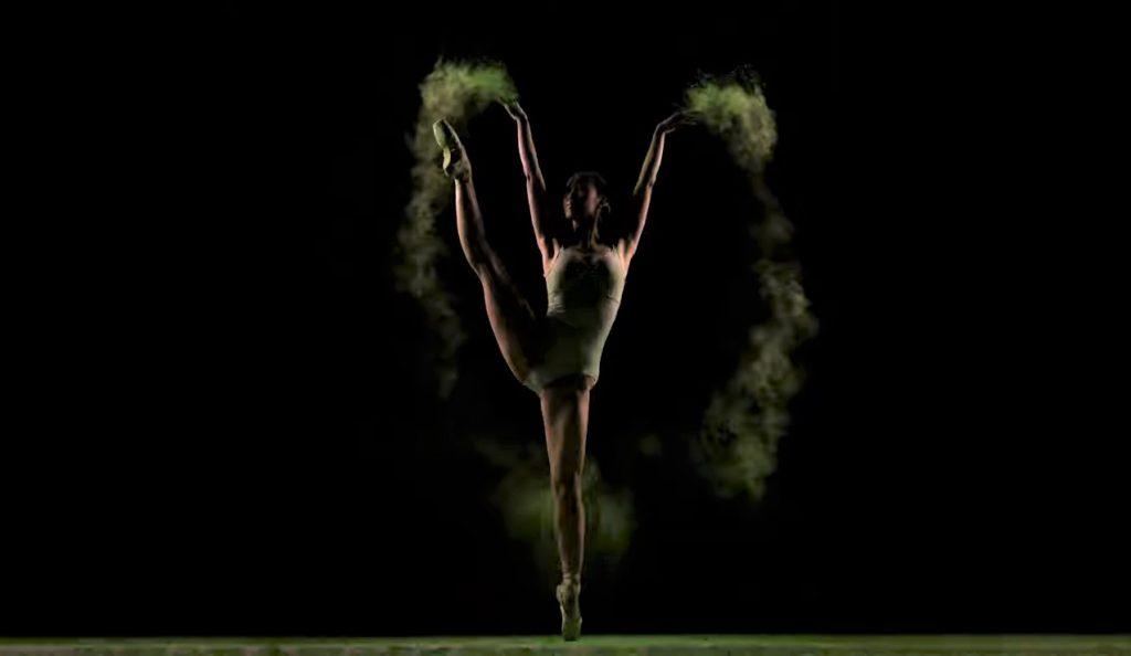 El cuerpo de una bailarina de ballet