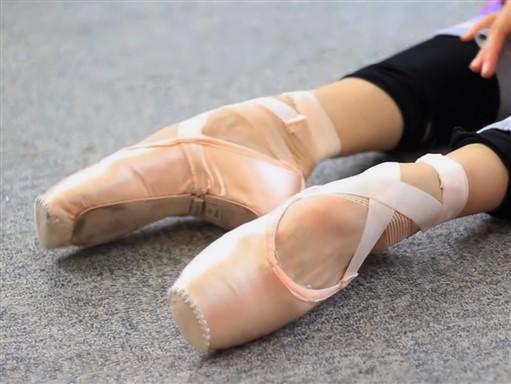 puntas ballet rojas